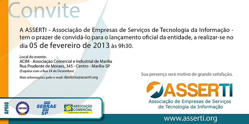 Convite Evento Lançamento ASSERTI